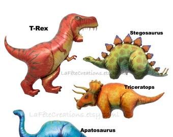 dinosaur balloons etsy