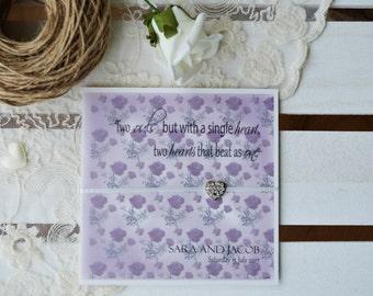 Secret Garden Wedding Invitation -SAMPLE