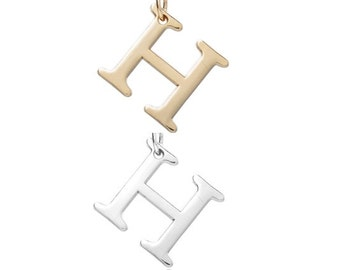 "Letter ""H"" (Silver or Gold tone) [5 pieces]"