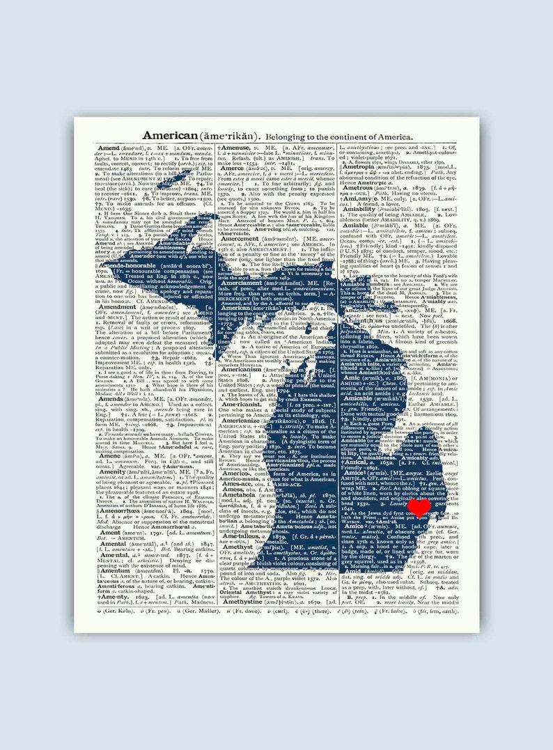 Michigan Print Michigan Map Michigan Wall Art Michigan Etsy