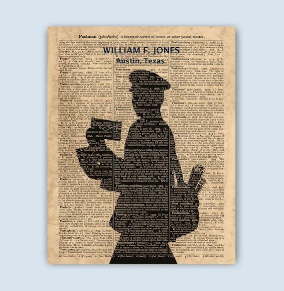 Postino regalo arte postino postino stampa regalo uomo Post  750b6af1fd6