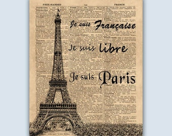 Paris Print, French Home Decor, Paris Wall Art, Eiffel Tower Paris, French Art Print, Paris Art, French Wall Decor,