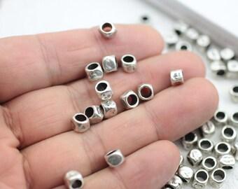 10//20 Großloch Metallperlen Perlen Hufeisen Loch 5mm für Paracord //Leder