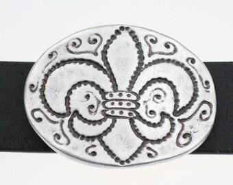 14e846634a24d6 Fleur de Lys Gürtelschnallen Schnappgurte Sterling Silber Plated-Antique  Silver-Belt Hardware-DIY Belt-Mens Belt-Womens Belt-GS134