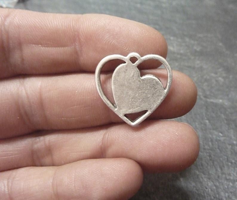 Made in Europa Hiqu Quality pendant 10 pcs HEART pendant ZM237