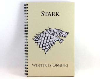 House Stark Journal/Notebook Game of Thrones