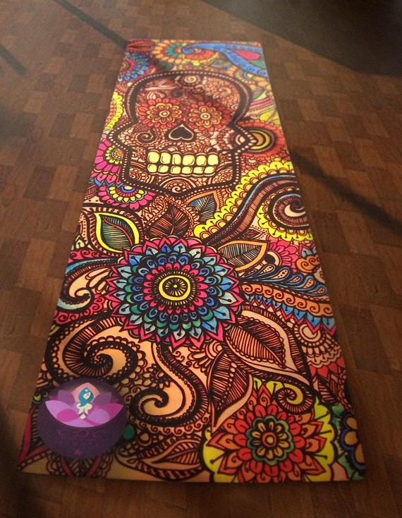 hottest sale amazon fashion styles La Calavera Skull Yoga Mat