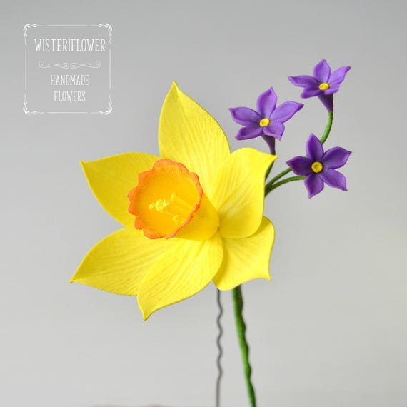 Yellow daffodil yellow wedding daffodil gift yellow flower etsy image 0 mightylinksfo