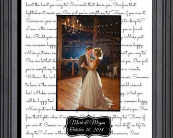 Anniversary Gift For Husband First Dance Wedding Song Lyrics Etsy