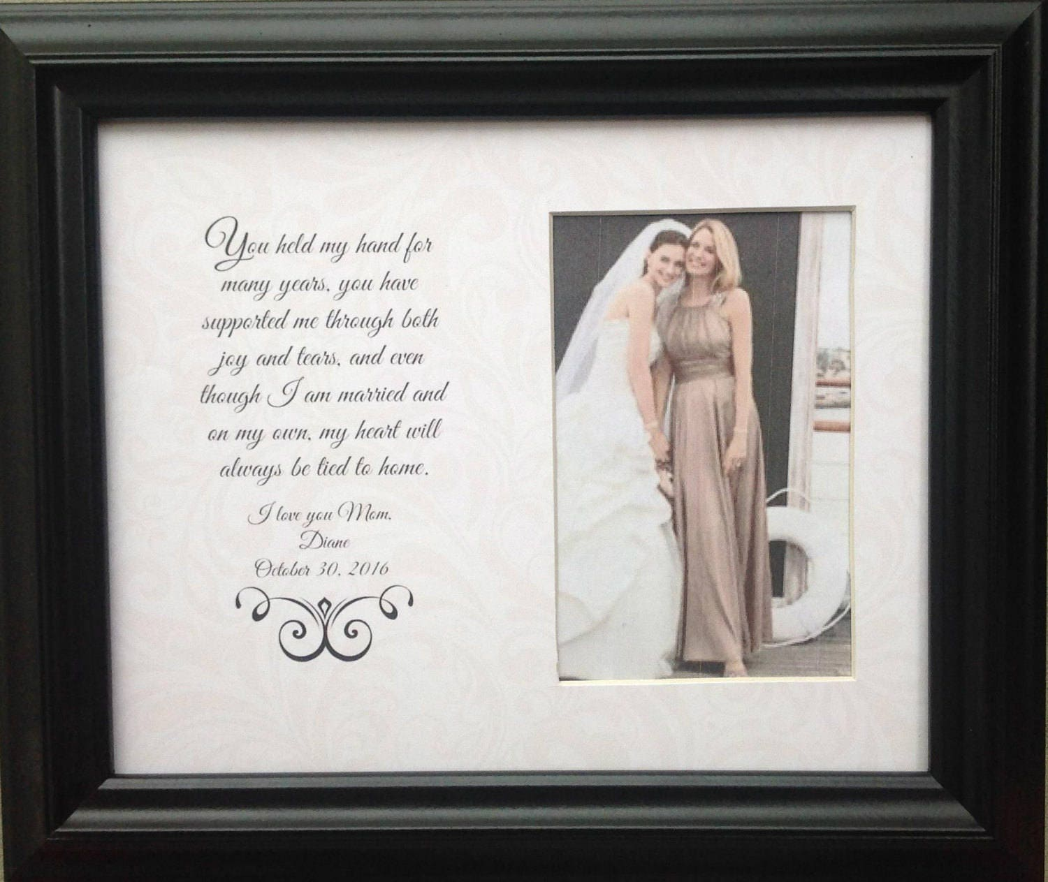 Without Frame Mother Of The Bride Gift Mother Of The Groom Etsy