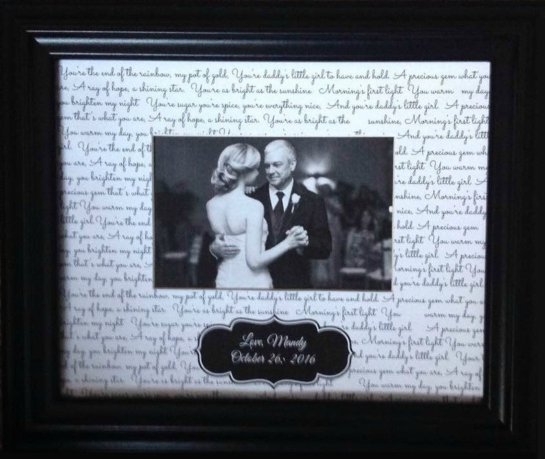 ather Daughter Dance Lyric  Picture Frame Father's Day  image 0