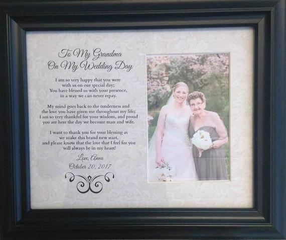 NO FRAME Grandma Grandpa Grandparents Nana Papa Wedding gift | Etsy