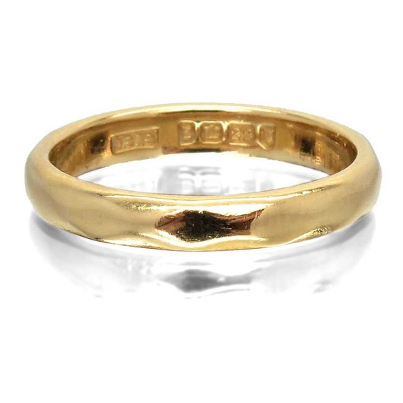 1940 Vintage Wedding Ring 22ct 22k Gold Wedding Band Etsy