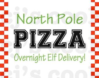 Elf Pizza Box Template Etsy