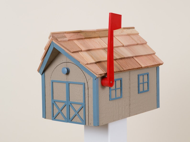 Amish Barn Style Mailbox Clay Mailbox Series | Etsy
