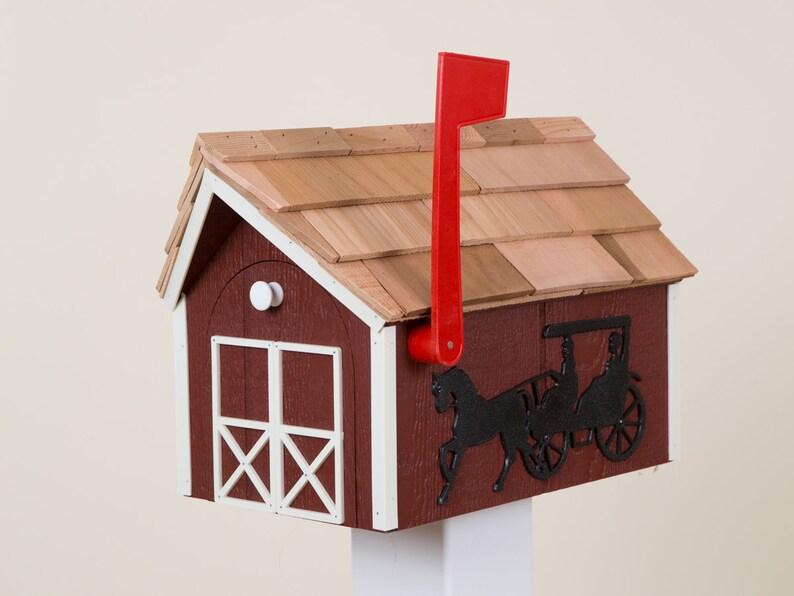 Amish Barn Style Mailbox | Etsy