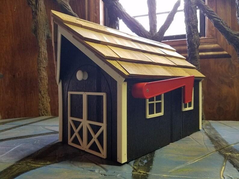 Amish Barn Style Mailbox White Trim Series | Etsy