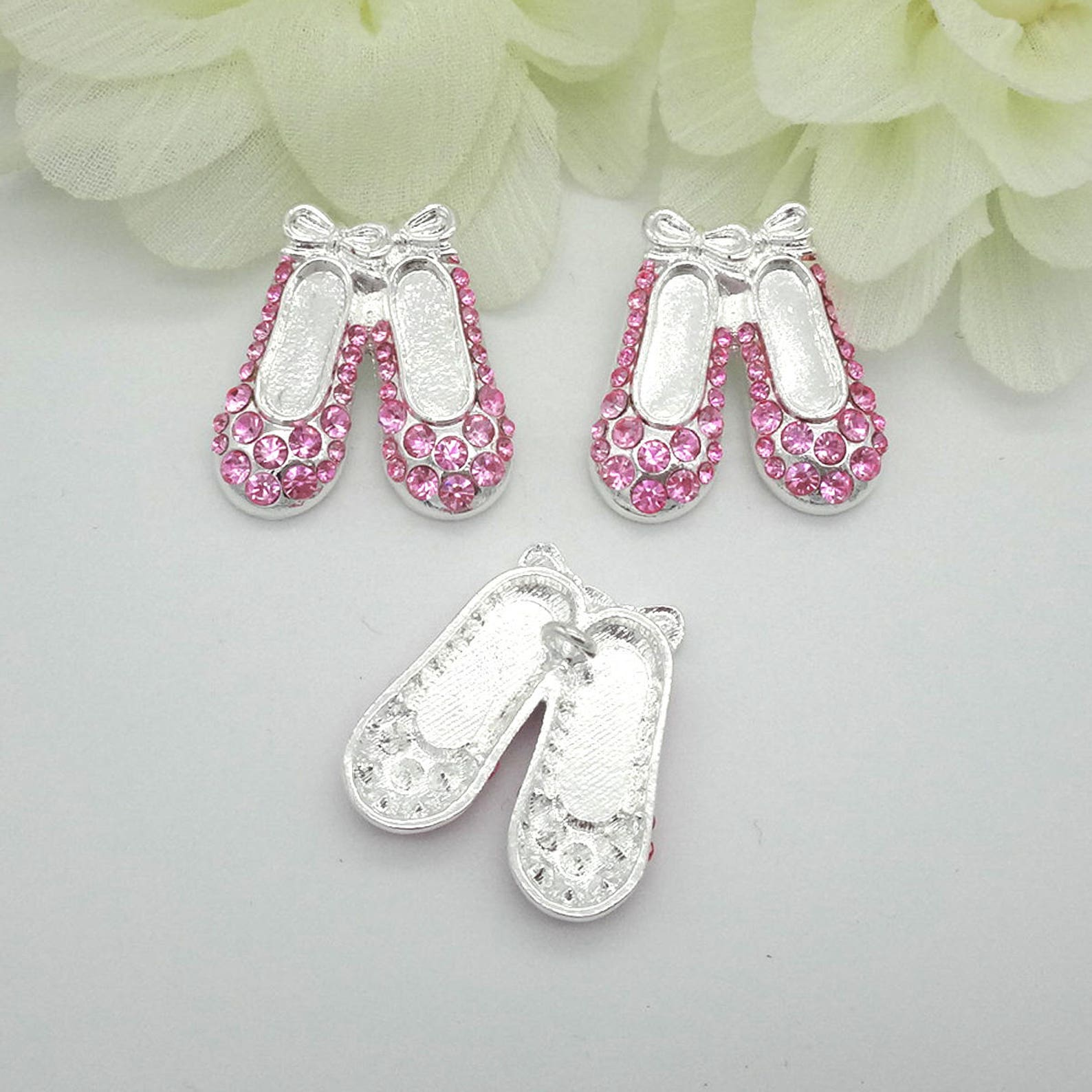 pink ballet slipper buttons rhinestone buttons pink ballerina shoe buttons rhinestone buttons coat buttons fashion buttons 21mm