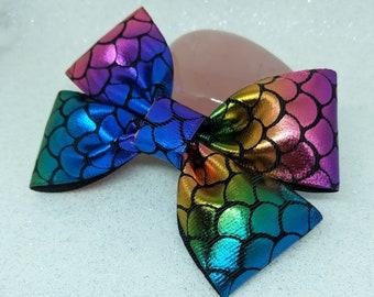 Mermaid hair bow, mermaid bow, Girls hair bow.