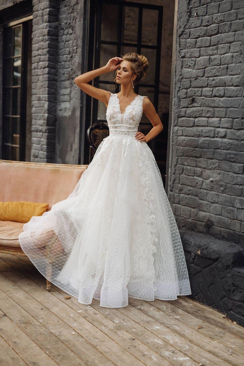 367e9b96599 Wedding dress  MILANA     Full lace wedding dress