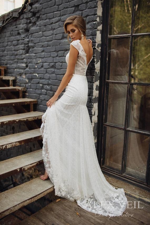 Brautkleid Onix Luxus Hochzeitskleid Sexy Etsy