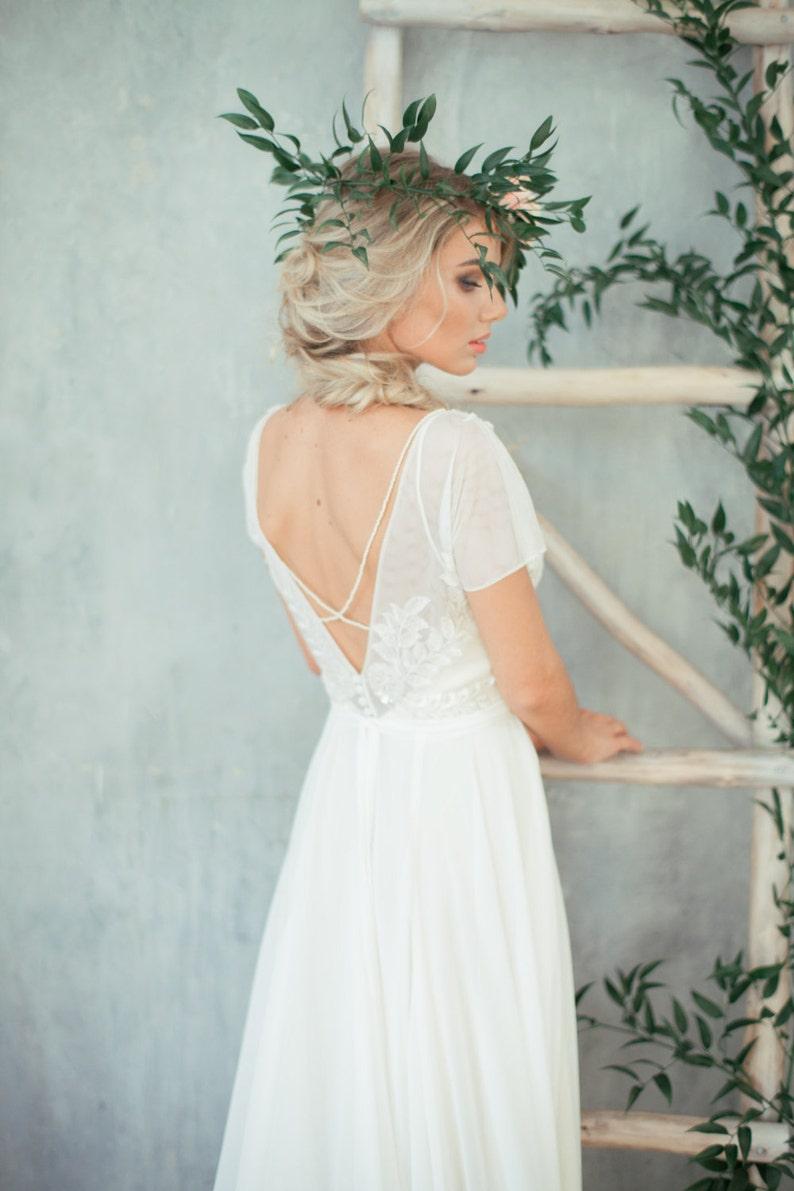 Boho wedding dress 'TEONA' / Bohemian Wedding Dress image 0