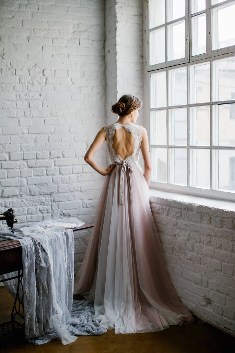Pale Rose Wedding Dress