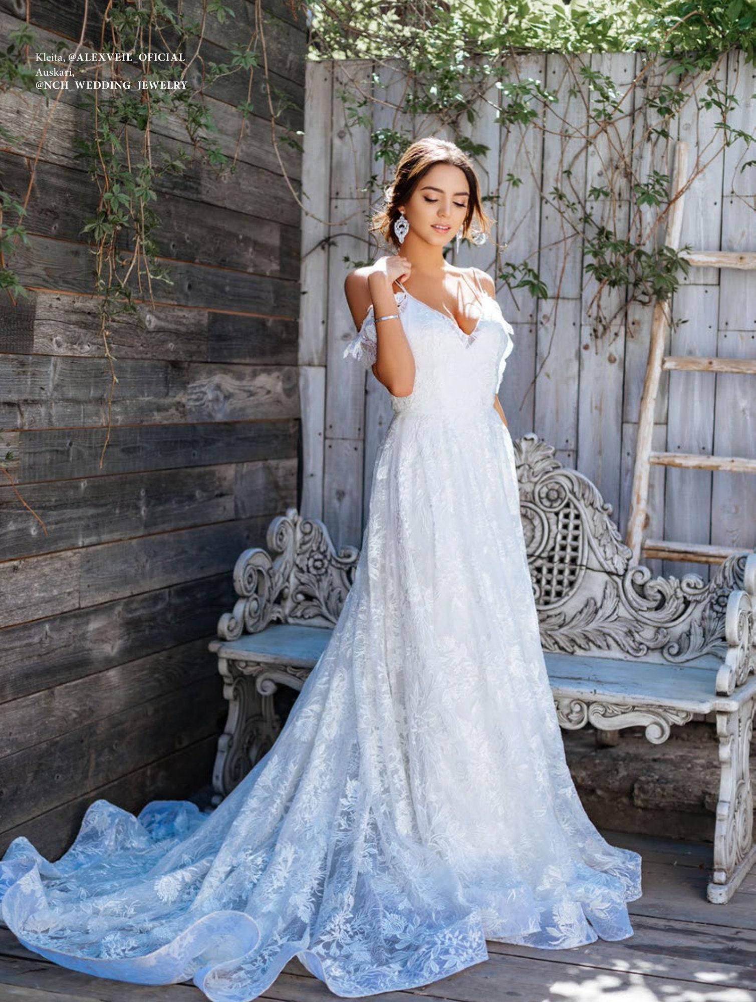 Wedding Dress Manon Beautiful Lace Wedding Dress Etsy
