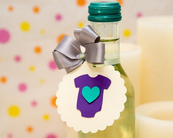 Custom Favor Tags, Baby Shower Favor Tags, Baby Shower Tags, Personalized Favor Tags, Onesie Favor Tags, Customized Tag, Thank You Tags