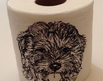 Golden DoodleTOILET PAPER -- Embroidered Toilet Paper, great for a conversation piece in your bathroom.