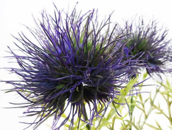 Allium thistle flower blue artificial silk flowers etsy image 0 mightylinksfo