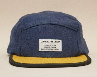 2d722333e3e Navy blue Wool 5 panel hat