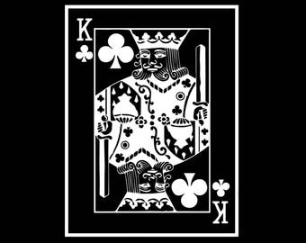 King of Clubs Sticker