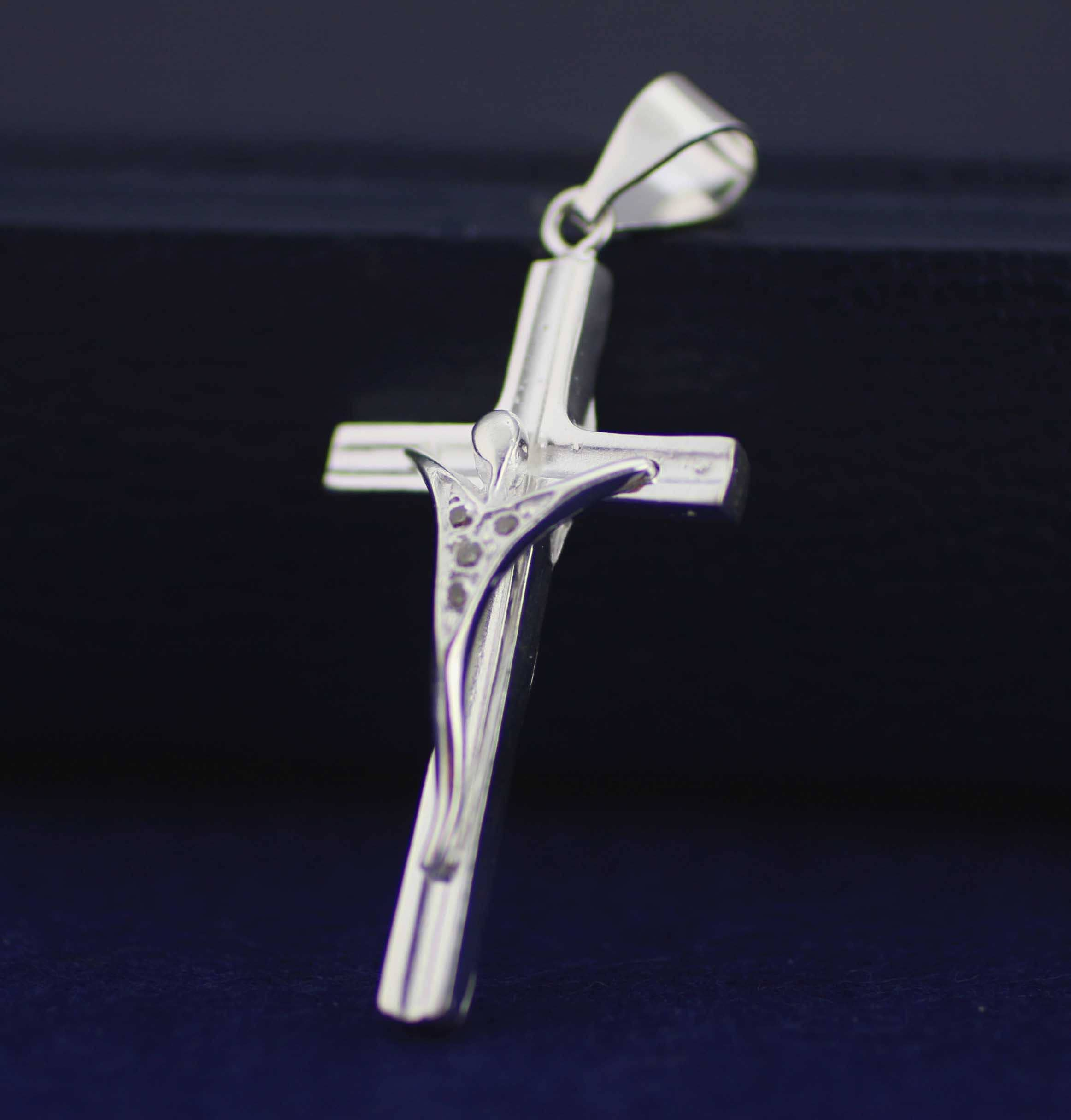 0f9424af6a89 Silver Cross Necklace Sterling Silver Modern Crucifix Cross