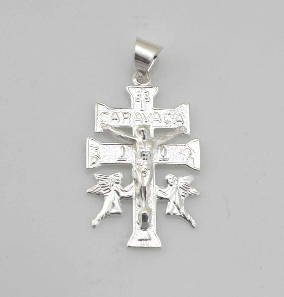 Solid 925 Sterling Silver Unisex Cross Small Pendant St Benedict San Benito 23mm