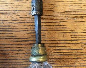 Antique closet glass door knob