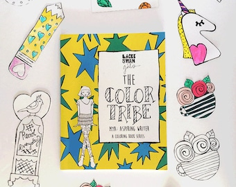 Girls Coloring Book The Color Tribeseries Mya Aspiring Writer Tween Fashion For
