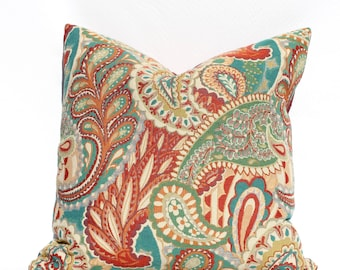 Contemporary Paisley -- Decorative Pillow Cover