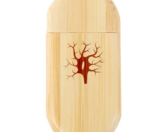 Wood Flash Drive with Laser Engraving Train 8Gb Bamboo USB Flash Drive with Rounded Corners 8Gb USB Gift for All Occasions