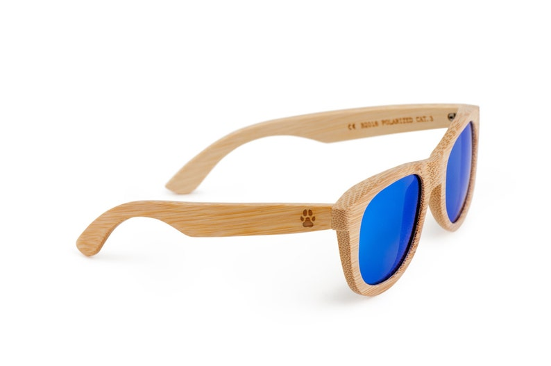 Pawprint Wooden Sunglasses, Bamboo Sunglasses, Groomsmen Gifts, Personalized and Customized Sunglasses