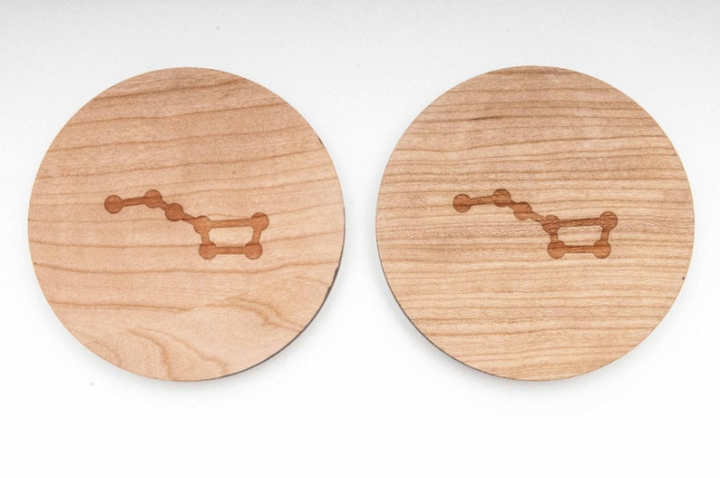 and Personalized Groomsman Gifts Big Dipper Wood Cufflinks Gift For Him Wedding Gifts