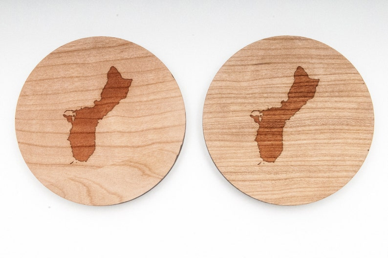 Wedding Gifts and Personalized Guam Wood Cufflinks Gift For Him Groomsman Gifts