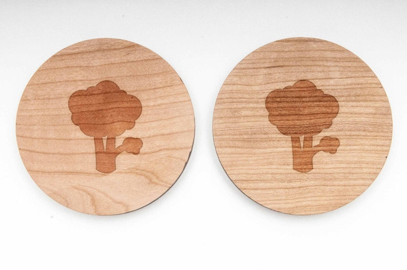 Broccoli Wood Cufflinks Gift For Him and Personalized Wedding Gifts Groomsman Gifts