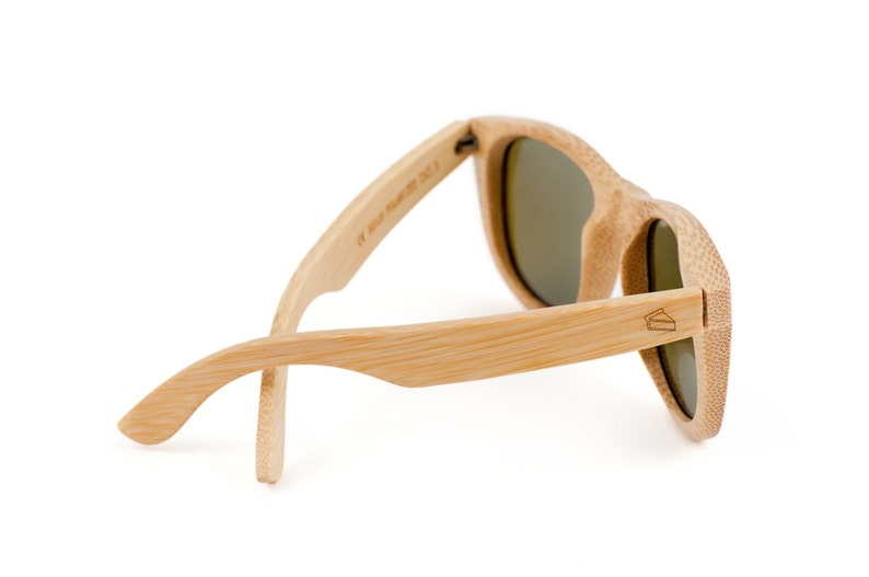 Pieslice Wooden Sunglasses, Bamboo Sunglasses, Groomsmen Gifts, Personalized and Customized Sunglasses