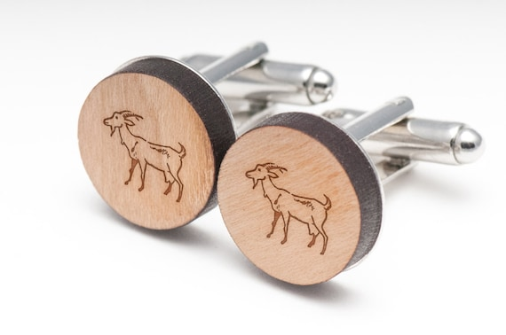 Groomsman Gifts Wedding Gifts and Personalized Iguana Wood Cufflinks Gift For Him