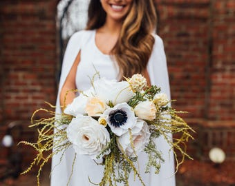 Aphrodite Paper Flower Wedding Bouquet in Grand
