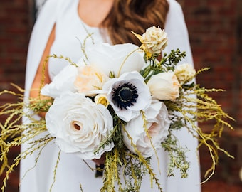Aphrodite Paper Flower Wedding Bouquet in Petite