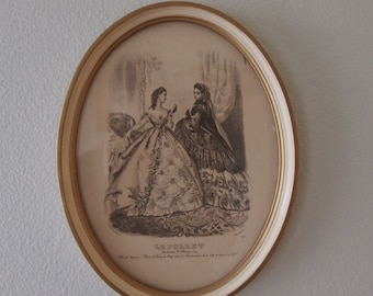 French Fashion Plate - Le Follet - Antique