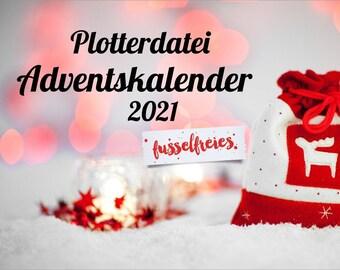 SVG DXF cut file advent calendar svg 2021 christmas svg