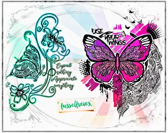 SVG DXF cut file Butterfly Vol4 by Fusselfreies